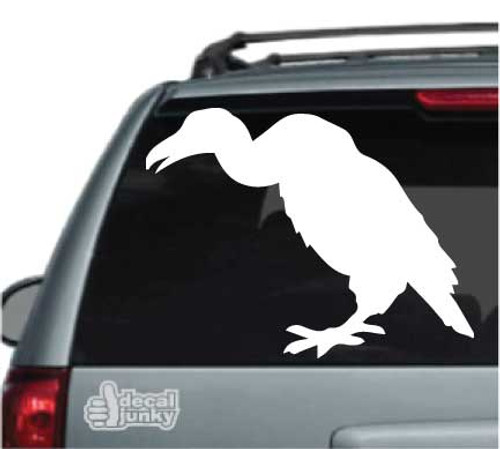 Buzzard Silhouette Standing Car Decal