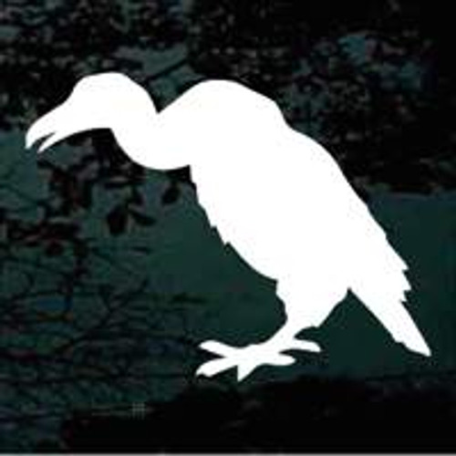 Buzzard Silhouette Standing Window Decal
