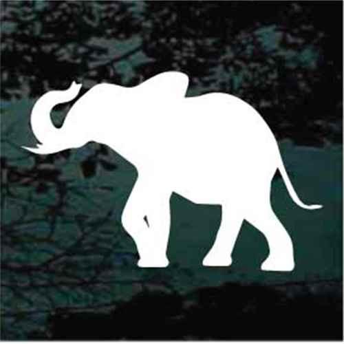 Elephant Silhouette Window Decals