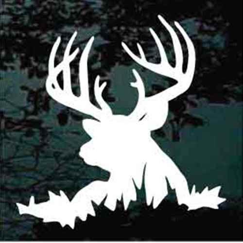 13 Point Deer Head Silhouette