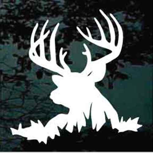 13 Point Deer Head Silhouette Decals