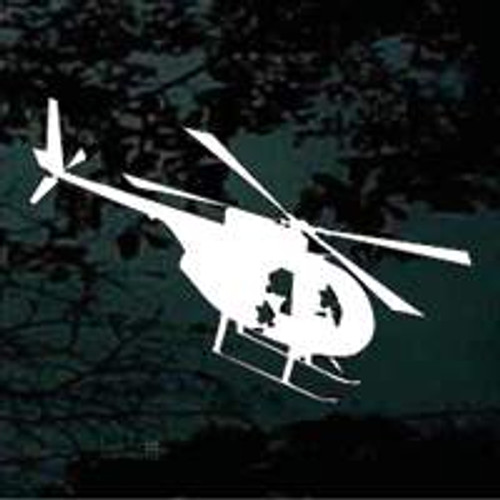Descending Helicopter Silhouette