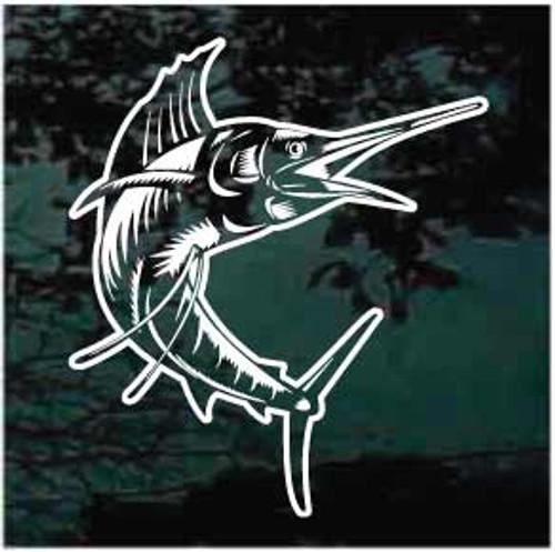 Realistic Marlin Fish Window Decals