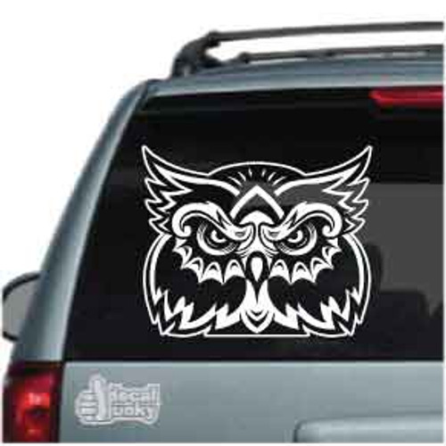 Mean Owl Face Car Window Decals