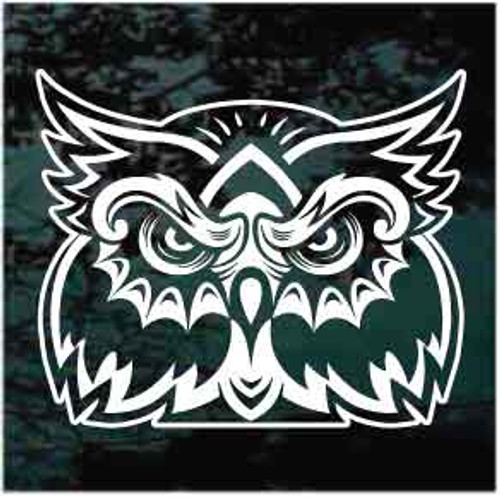 Mean Owl Face Decals