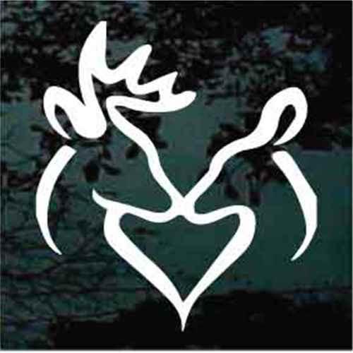 Buck & Doe Deer Heart