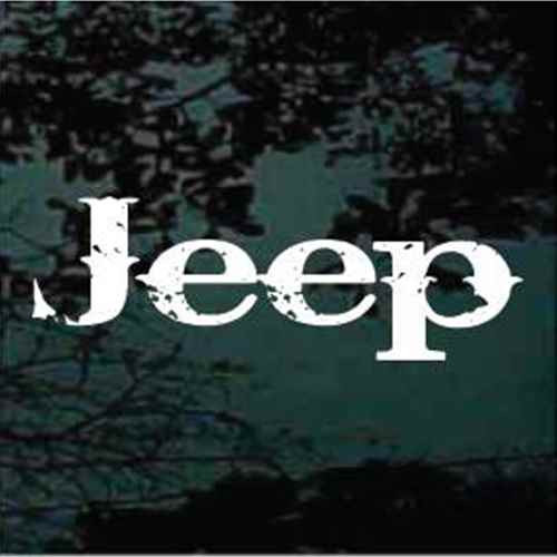 Jeep Text Decals