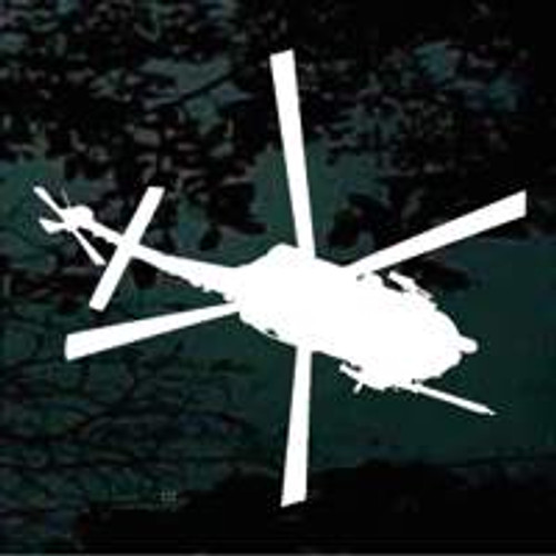 Bird's Eye View Helicopter Silhouette Decals