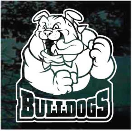 Bulldogs Mascot Logo Window Decals