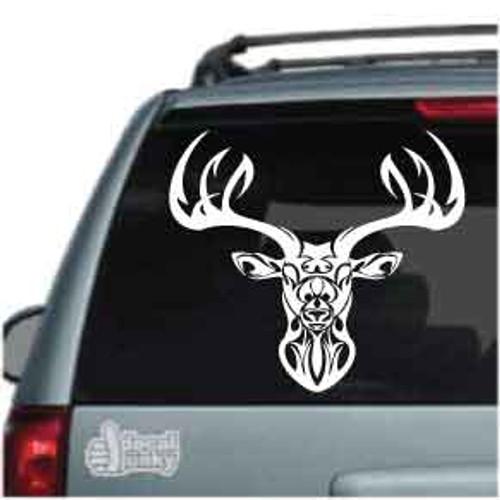 Tribal Deer Head Car Decal