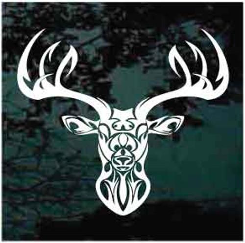 Tribal Deer Head Window Decal