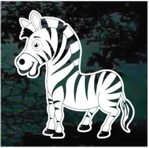 Cute Zebra Cartoon Decal