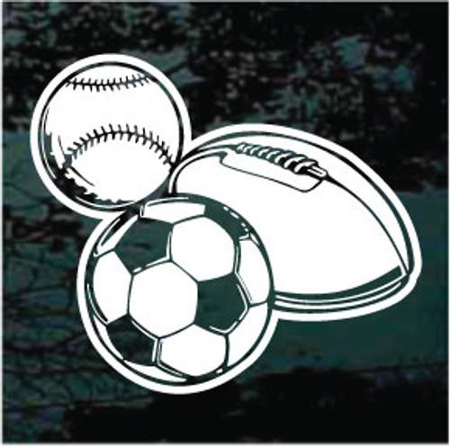 Baseball Football Soccer Window Decals