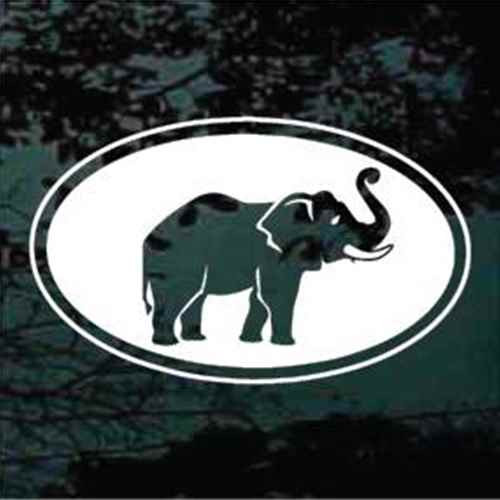 Elephant Cut Out Window Decals