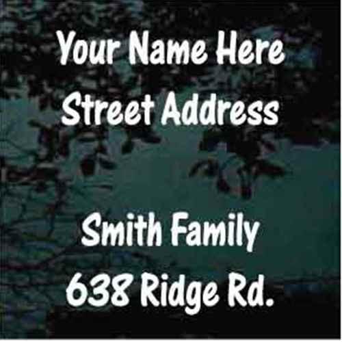 Street Address One Stroke Font Mailbox - Set of Two