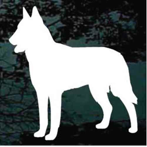 Belgian Malinois Silhouette Window Decal