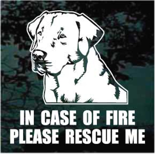 Labrador Retriever Fire Rescue Window Decal