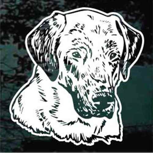 Anatolian Shepherd Head Window Decals