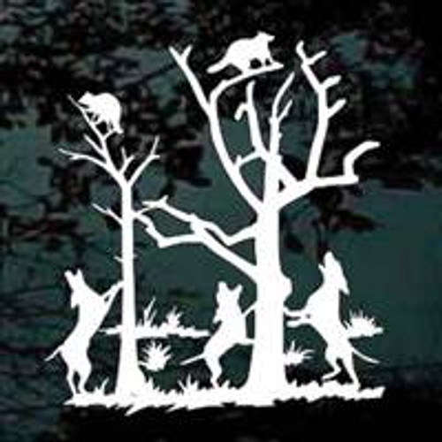 Dogs Coon Hunting Decals