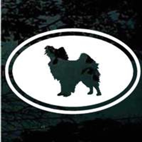 Papillon Oval Window Decal