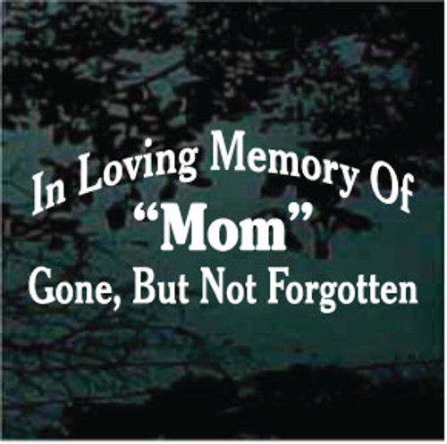 In Loving Memory of Mom Memorial