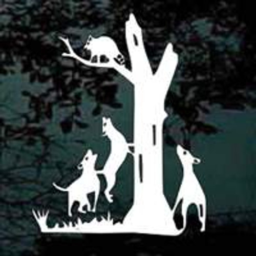 Coon Hunting With Dogs Decals