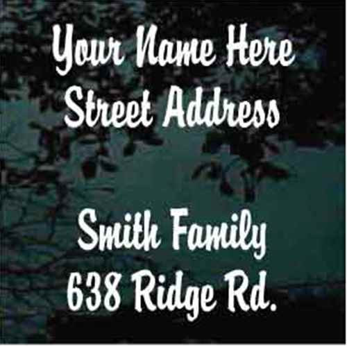 Brandy Script Font Mailbox Address - Set of Two