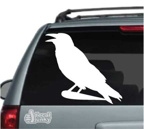 Crowing Crow Stickers