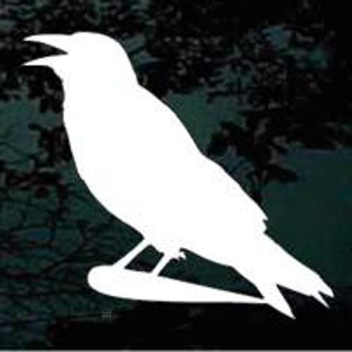 Crowing Crow Window Decals