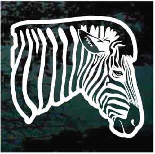 Realistic Zebra Head Decal