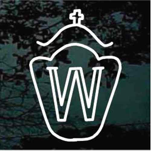 Westphalian Horse Breed Logo Window Decals