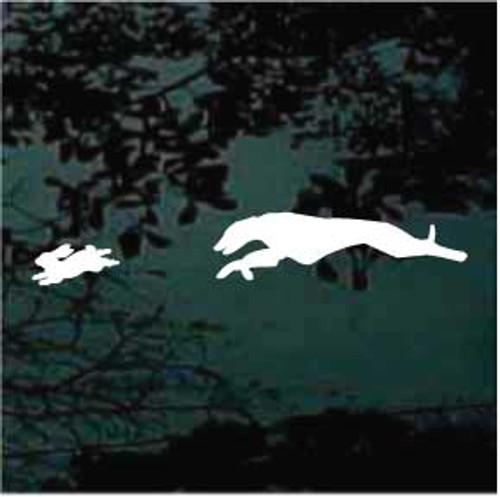 Greyhound Chasing Rabbit Decals