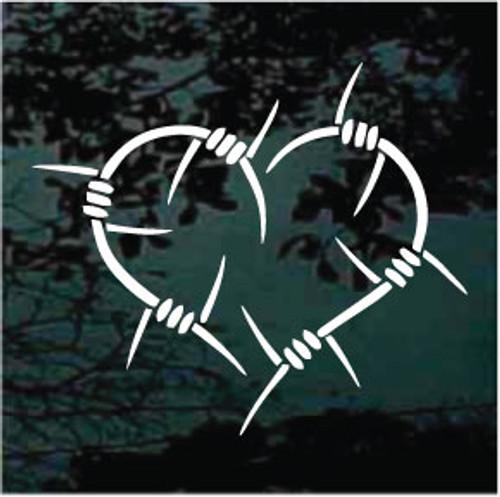 Decorative Barbed Wire Heart Decals