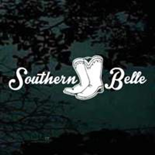 Southern Belle Cowgirl Boots Car Window Decals Stickers