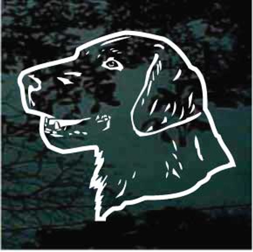 Flat Coat Retriever Head Outline Window Decal