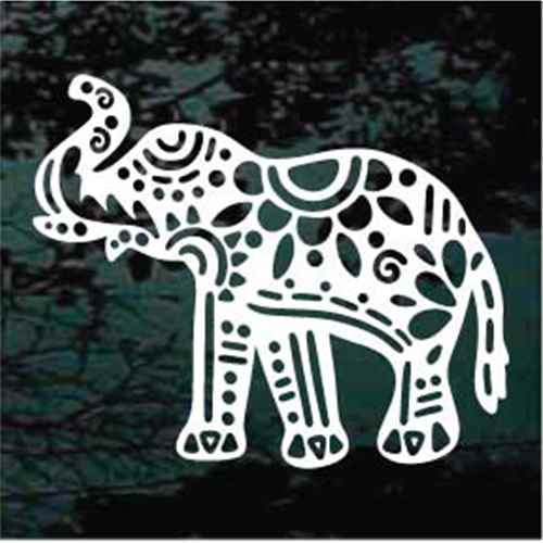 Decorative Elephant Window Decals