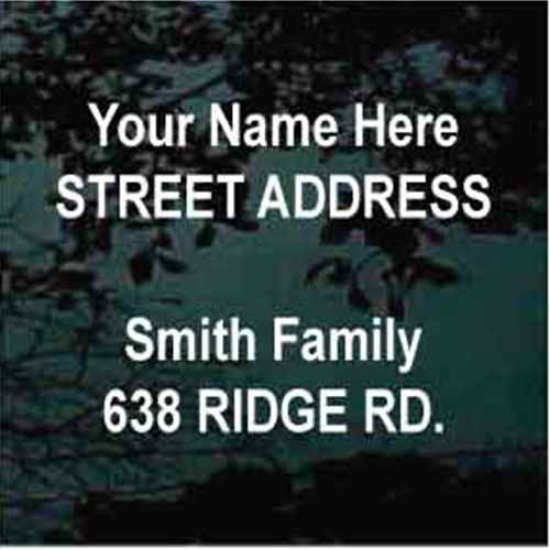 Street Address Arial Bold Font Mailbox - Set of Two