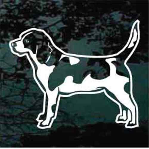 Detailed Beagle Standing Window Decals