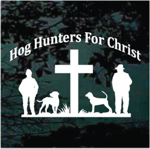Hog Hunting Decals & Car Window Stickers Personalized | Decal Junky