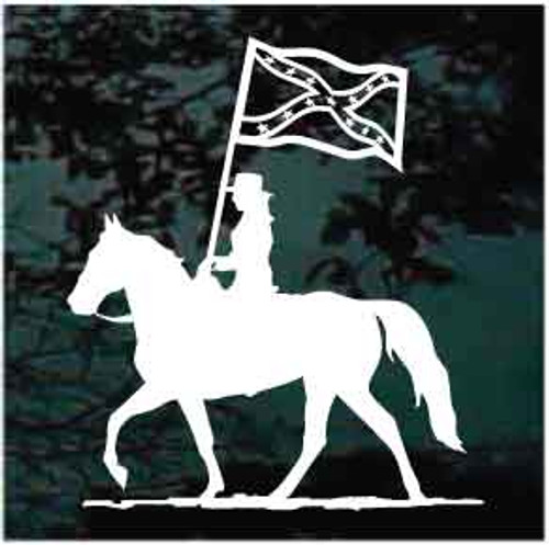 Rodeo Equestrian Drill Team Confederate Flag Window Decal