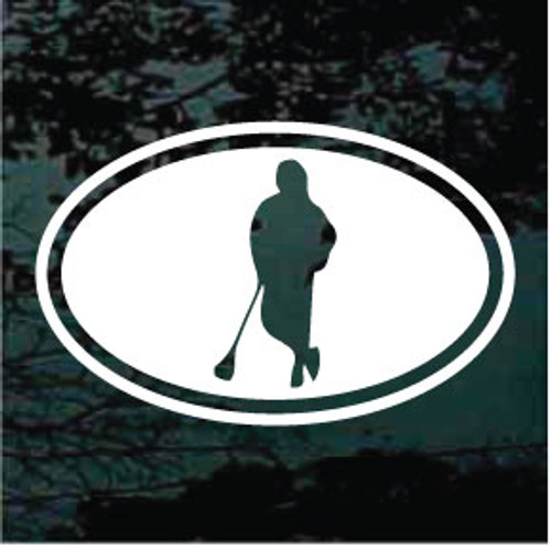 Oval Lacrosse Decals