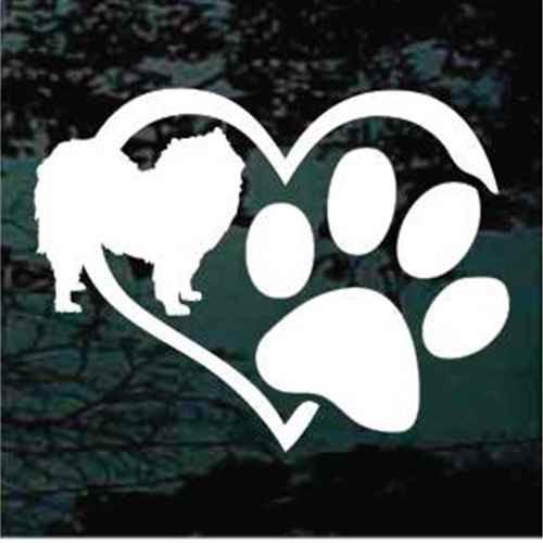 Samoyed Heart Paw
