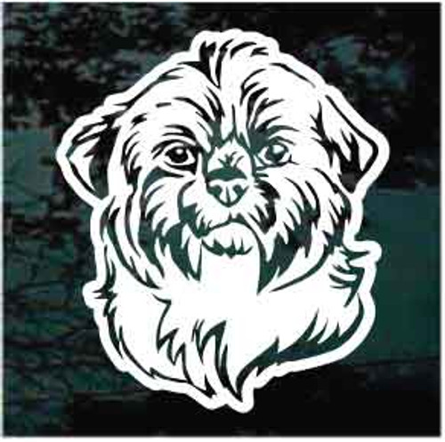 Cute Shih Tzu Head Window Decals