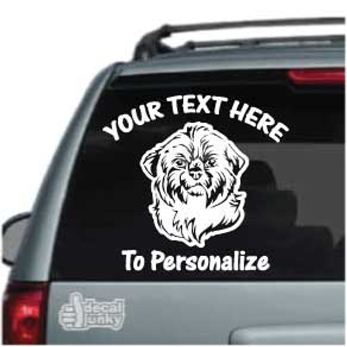 Cute Shih Tzu Head Car Decals