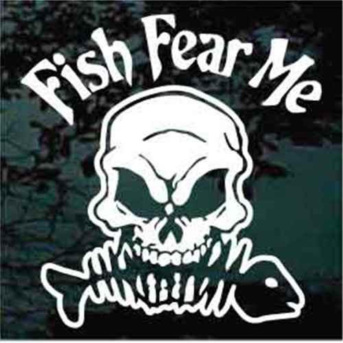 Fish Fear Me Skull