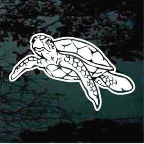 Decorative Sea Turtle Window Decals