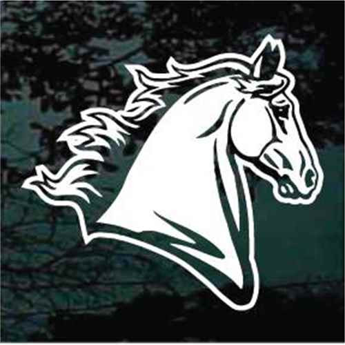 Mustang Horse Head Window Decal