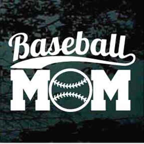 Baseball Mom Decals