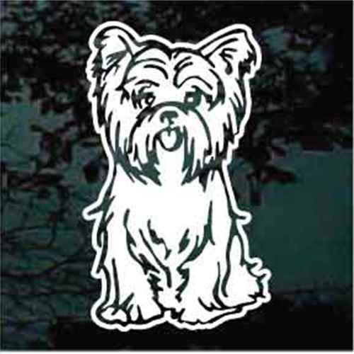 Yorkshire Terrier Sitting Decals
