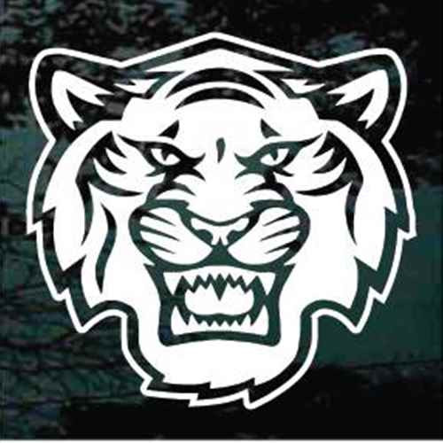 Detailed Tiger Head Face Mascot Window Decals